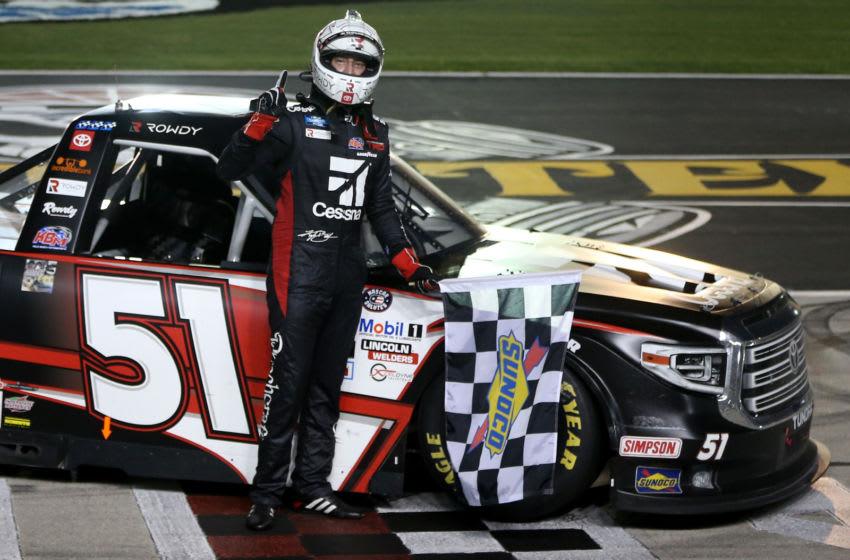 Kyle Busch, Kyle Busch Motorsports, Texas, NASCAR, Truck Series (Photo by Brian Lawdermilk/Getty Images)