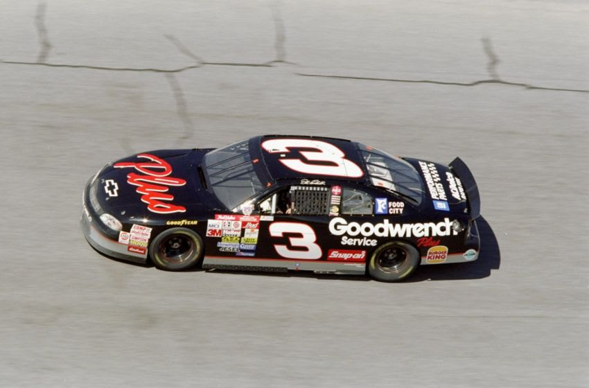 12 Feb 1998: Dale Earnhardt #3 in action during the Nascar Daytona 500 at the Daytona International Speedway in Daytona Beach, Florida. Mandatory Credit: Andy Lyons /Allsport
