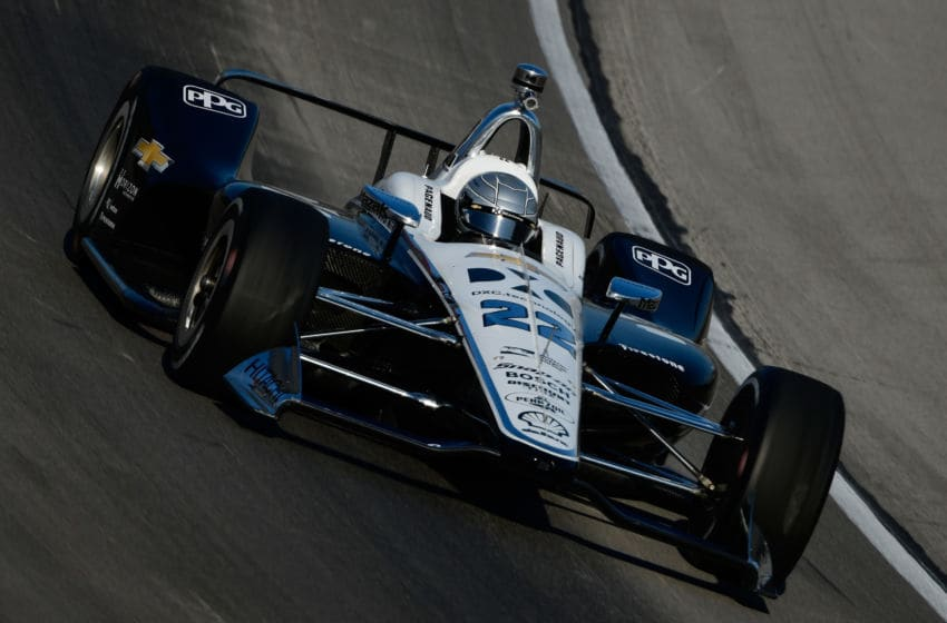 FORT WORTH, TX - JUNE 08: Simon Pagenaud, driver of the #22 DXC Technology Team Penske Chevrolet (Photo by Robert Laberge/Getty Images)
