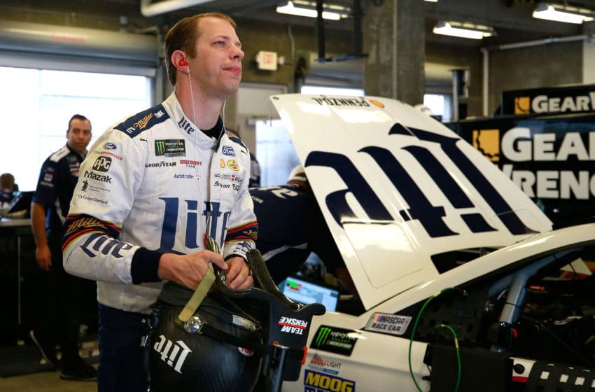 INDIANAPOLIS, IN - JULY 22: Brad Keselowski, driver of the