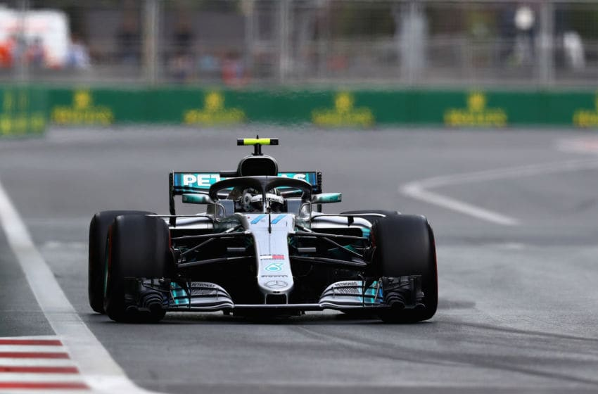 BAKU, AZERBAIJAN - APRIL 29: Valtteri Bottas driving the (77) Mercedes AMG Petronas F1 Team Mercedes WO9 (Photo by Mark Thompson/Getty Images)