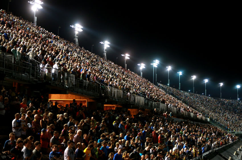 DARLINGTON, SOUTH CAROLINA - SEPTEMBER 01: NASCAR fans during the 2019 Bojangles Southern 500 at Darlington Raceway (Photo by Sean Gardner/Getty Images)