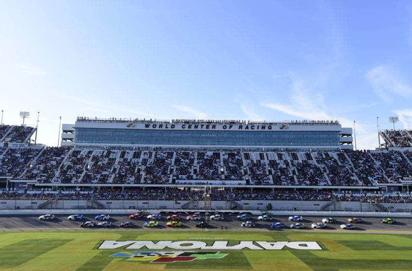 DAYTONA BEACH, FLORIDA - FEBRUARY 17: Brad Keselowski, driver of the #2 Discount Tire Ford, leads during the NASCAR Cup Series 62nd Annual Daytona 500 at Daytona International Speedway on February 17, 2020 in Daytona Beach, Florida. (Photo by Jared C. Tilton/Getty Images)