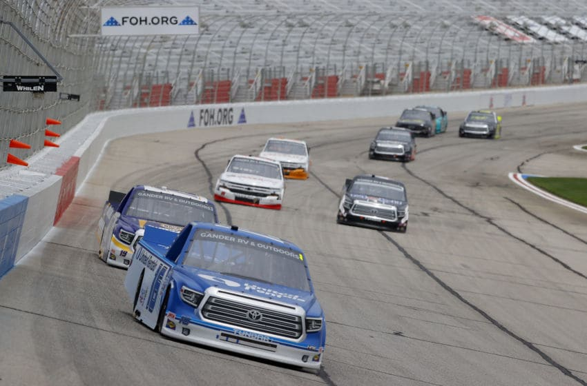 Austin Hill, Hattori Racing Enterprises, Atlanta Motor Speedway, NASCAR, Truck Series (Photo by Kevin C. Cox/Getty Images)