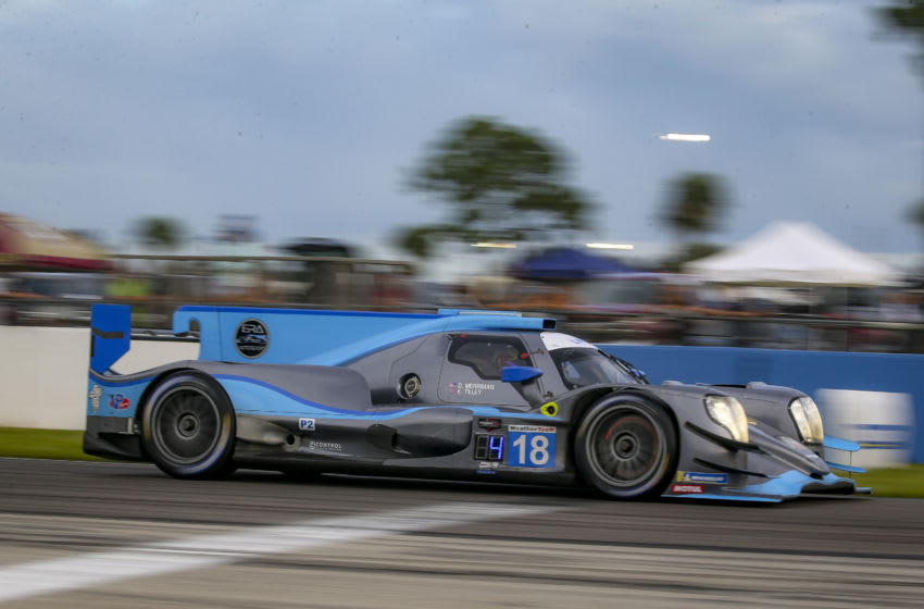 SEBRING, FLORIDA - JUL 18: The #18 Mercedes AMG GT3 of Dwight Merman and Kyle Tilley races on the track during the Cadillac Grand Prix of Sebring, IMSA WeatherTech Series race, Sebring International Raceway on July 18, 2020 in Sebring, Florida. (Photo by Brian Cleary/Getty Images)