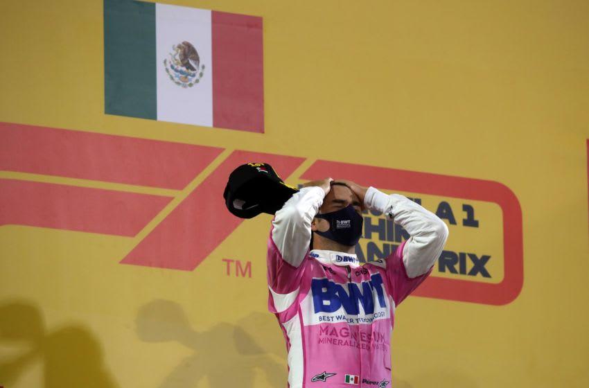 Sergio Perez, Racing Point, Formula 1 (Photo by TOLGA BOZOGLU/POOL/AFP via Getty Images)