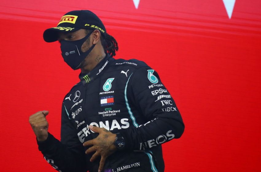 Lewis Hamilton, Mercedes, Formula 1 (Photo by BRYN LENNON/POOL/AFP via Getty Images)