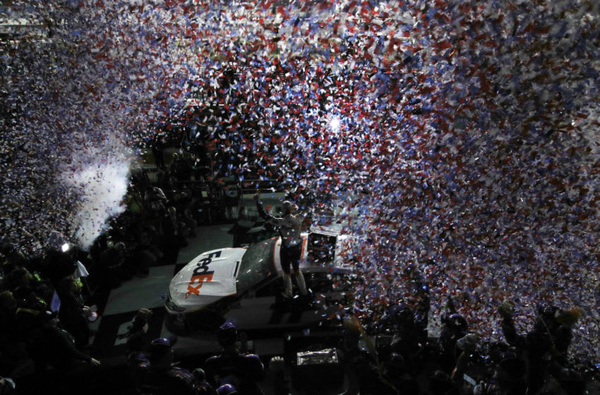 Denny Hamlin, Joe Gibbs Racing, NASCAR, Daytona 500 (Photo by Jared C. Tilton/Getty Images)