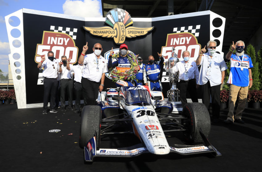 Takuma Sato, Rahal Letterman Lanigan Racing IndyCar, Indy 500 (Photo by Andy Lyons/Getty Images)