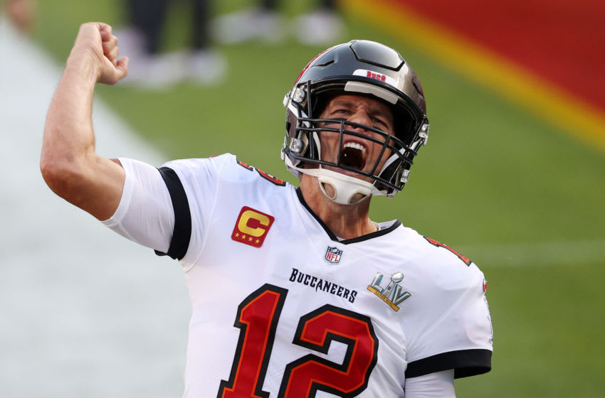 Tom Brady, Tampa Bay Buccaneers, NFL, Formula 1 (Photo by Patrick Smith/Getty Images)