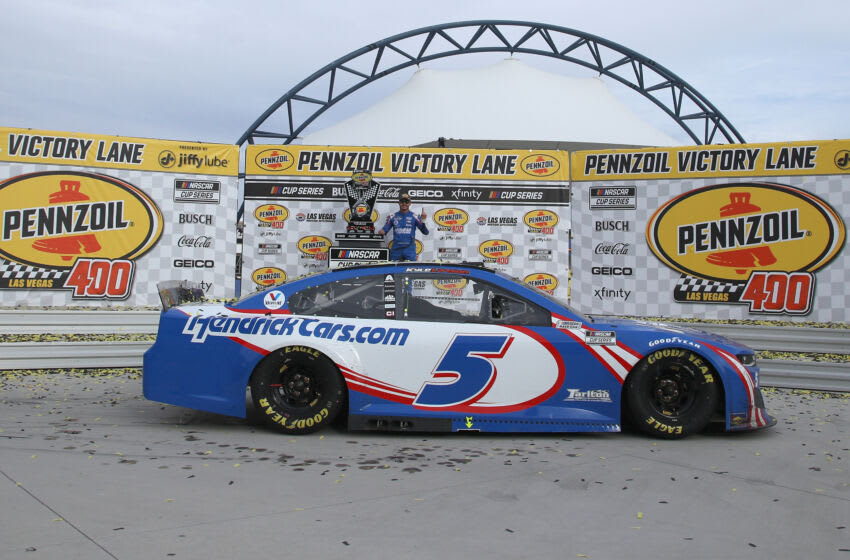 Kyle Larson, Hendrick Motorsports, NASCAR (Photo by Chris Graythen/Getty Images)