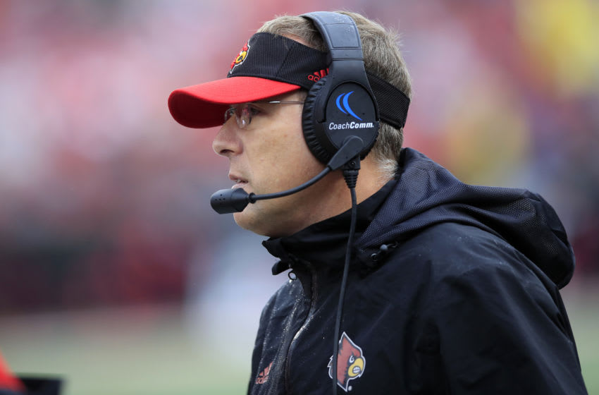 Scott Satterfield the head coach of the Louisville Cardinals (Photo by Andy Lyons/Getty Images)