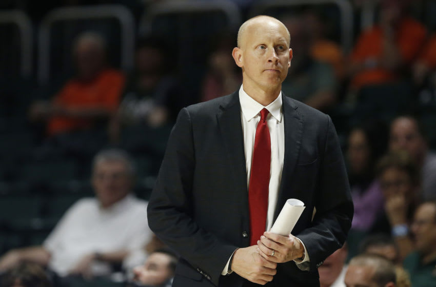 Head coach Chris Mack of the Louisville Cardinals (Photo by Michael Reaves/Getty Images)