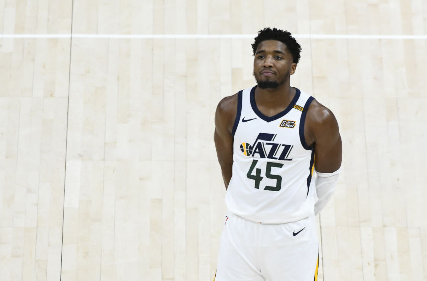 Donovan Mitchell #45 of the Utah Jazz (Photo by Alex Goodlett/Getty Images)