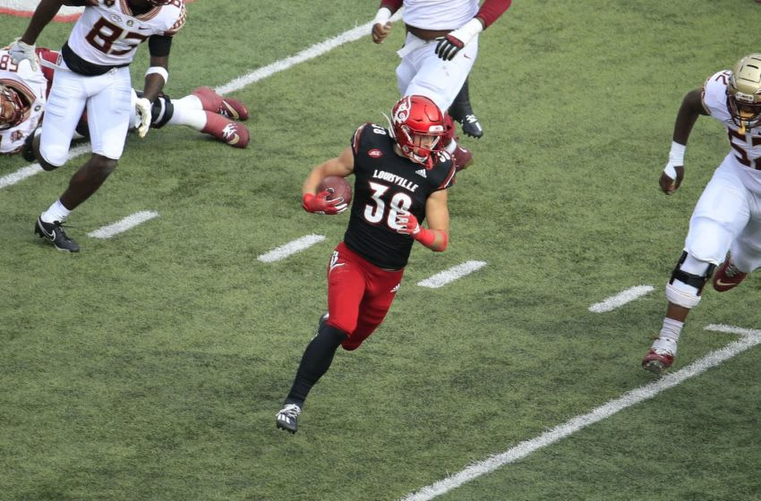 Jack Fagot #38 of the Louisville Cardinals (Photo by Andy Lyons/Getty Images)
