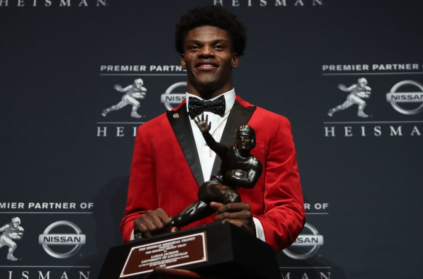 Lamar Jackson, Louisville Cardinals. (Photo by Michael Reaves/Getty Images)