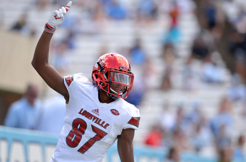 Dez Fitzpatrick #87 of the Louisville Cardinals (Photo by Grant Halverson/Getty Images)