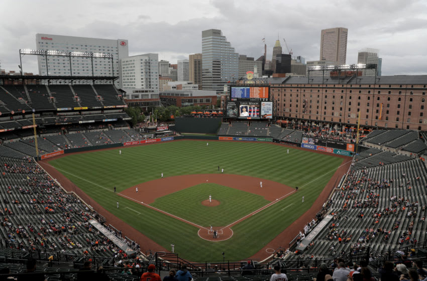 BALTIMORE, MD - JULY 24: A general view during the first inning of the Baltimore Orioles and Boston Red Sox game at Oriole Park at Camden Yards on July 24, 2018 in Baltimore, Maryland. (Photo by Rob Carr/Getty Images)