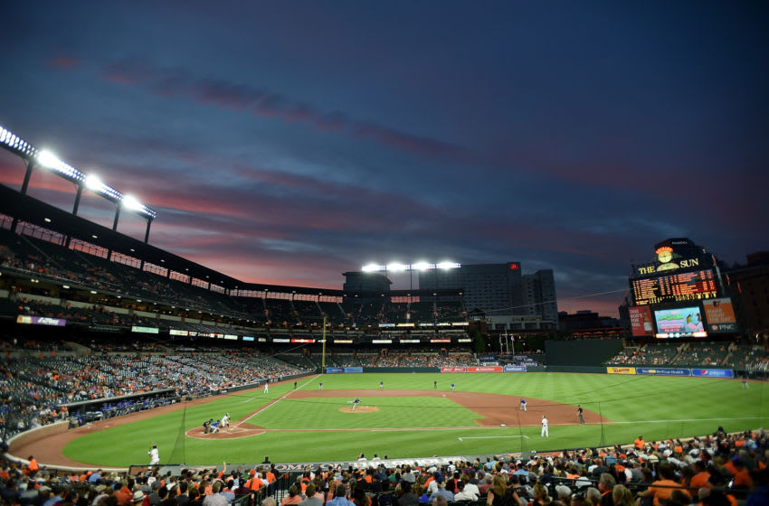 BALTIMORE, MD - JUNE 11: General view as the Baltimore Orioles play against the Toronto Blue Jays in the fifth inning at Oriole Park at Camden Yards on June 11, 2019 in Baltimore, Maryland. (Photo by Greg Fiume/Getty Images)