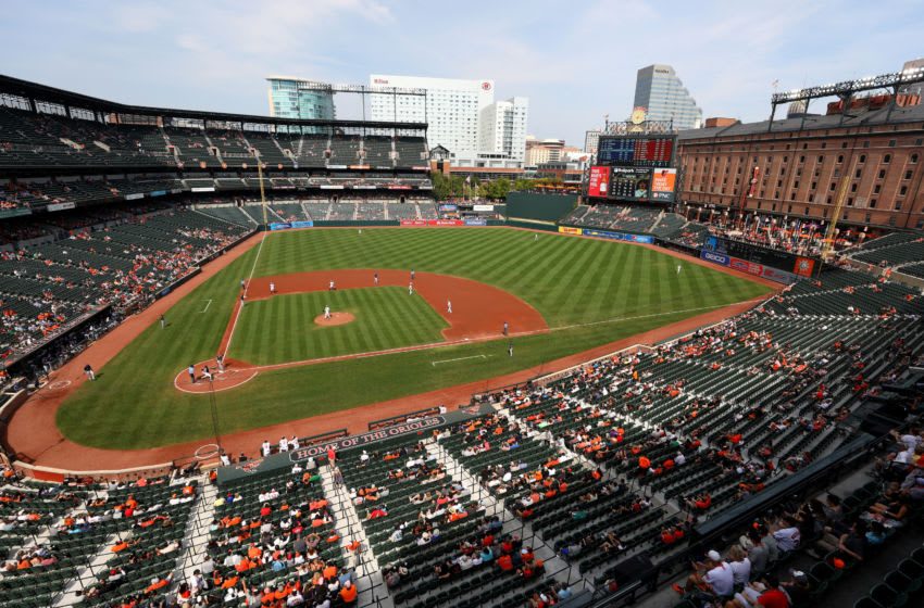 BALTIMORE, MARYLAND - SEPTEMBER 22: A general view of the Baltimore Orioles and Seattle Mariners game at Oriole Park at Camden Yards on September 22, 2019 in Baltimore, Maryland. (Photo by Rob Carr/Getty Images)