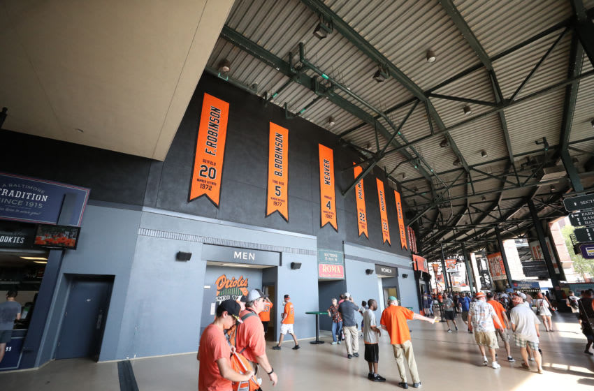 BALTIMORE, MARYLAND - SEPTEMBER 22: A general view of the concourse during the Baltimore Orioles and Seattle Mariners game at Oriole Park at Camden Yards on September 22, 2019 in Baltimore, Maryland. (Photo by Rob Carr/Getty Images)