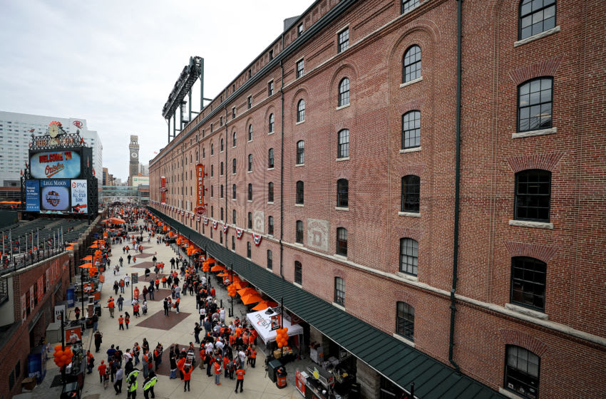 BALTIMORE, MD - APRIL 03: Fans enter the ballpark before the Toronto Blue Jays play the Baltimore Orioles during their Opening Day game at Oriole Park at Camden Yards on April 3, 2017 in Baltimore, Maryland (Photo by Patrick Smith/Getty Images)
