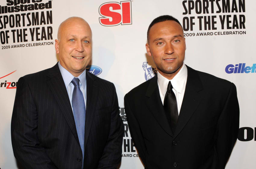 NEW YORK - DECEMBER 01: Former baseball player Cal Ripken, Jr. (L) and 2009 Sports Illustrated Sportsman of the Year Derek Jeter attend the 2009 Sports Illustrated Sportsman of the Year Celebration at The IAC Building on December 1, 2009 in New York City. (Photo by Theo Wargo/Getty Images)