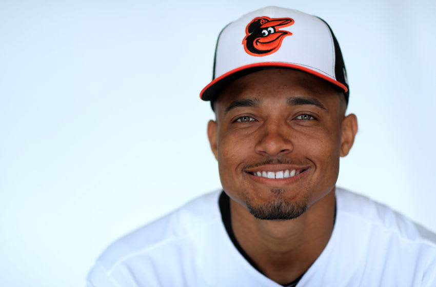 SARASOTA, FLORIDA - FEBRUARY 20: Richie Martin #82 of the Baltimore Orioles poses for a portrait during photo day at Ed Smith stadium on February 20, 2019 in Sarasota, Florida. (Photo by Mike Ehrmann/Getty Images)