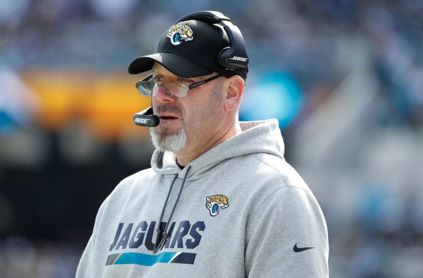 JACKSONVILLE, FL - JANUARY 07: Jacksonville Jaguars defensive coordinator Todd Wash waits on the sideline in the first half of the AFC Wild Card Round game against the Buffalo Bills at EverBank Field on January 7, 2018 in Jacksonville, Florida. (Photo by Scott Halleran/Getty Images)