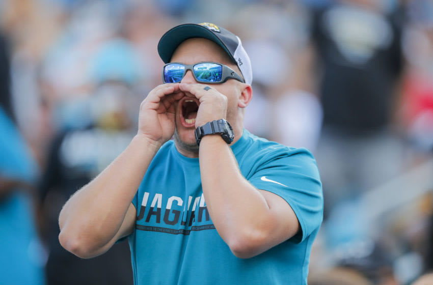 Fan of the Jacksonville Jaguars at TIAA Bank Field (Photo by James Gilbert/Getty Images)