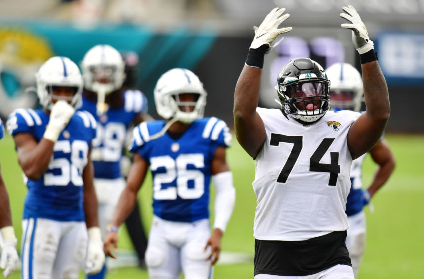 Cam Robinson #74 of the Jacksonville Jaguars (Photo by Julio Aguilar/Getty Images)