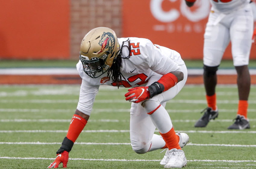 Linebacker Jordan Smith #22 from UAB (Photo by Don Juan Moore/Getty Images)