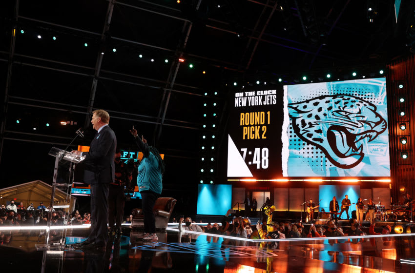 NFL Commissioner Roger Goodell at 2021 NFL Draft (Photo by Gregory Shamus/Getty Images)