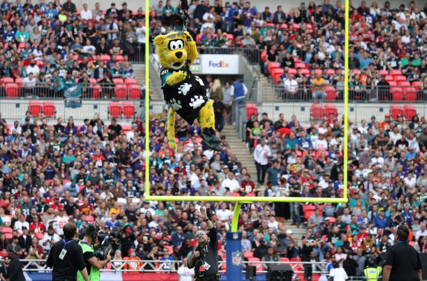 Jacksonville Jaguars Mascot Jaxson De Ville at Wembley Stadium (Photo by Mitchell Gunn/Getty Images)