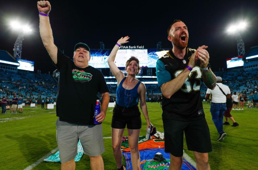 Jacksonville Jaguars fans at TIAA Bank Field (Nathan Ray Seebeck-USA TODAY Sports)