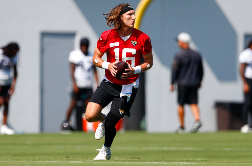Quarterback Trevor Lawrence #16 of the Jacksonville Jaguars (Nathan Ray Seebeck-USA TODAY Sports)