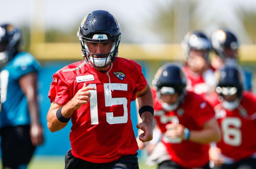 Jacksonville Jaguars quarterback Gardner Minshew #15 (Nathan Ray Seebeck-USA TODAY Sports)