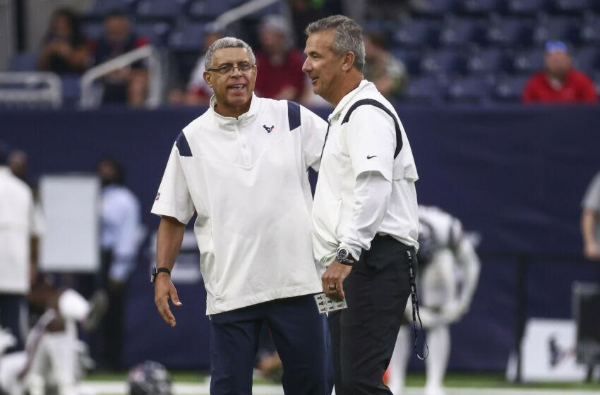 Houston Texans head coach David Culley and Jacksonville Jaguars head coach Urban Meyer (Troy Taormina-USA TODAY Sports)