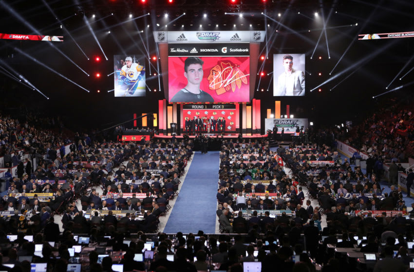 Chicago Blackhawks Draft (Photo by Bruce Bennett/Getty Images)