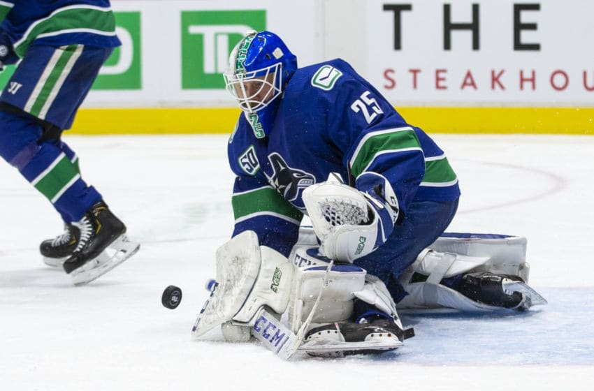 Jacob Markstrom #25, Vancouver Canucks (Photo by Ben Nelms/Getty Images)