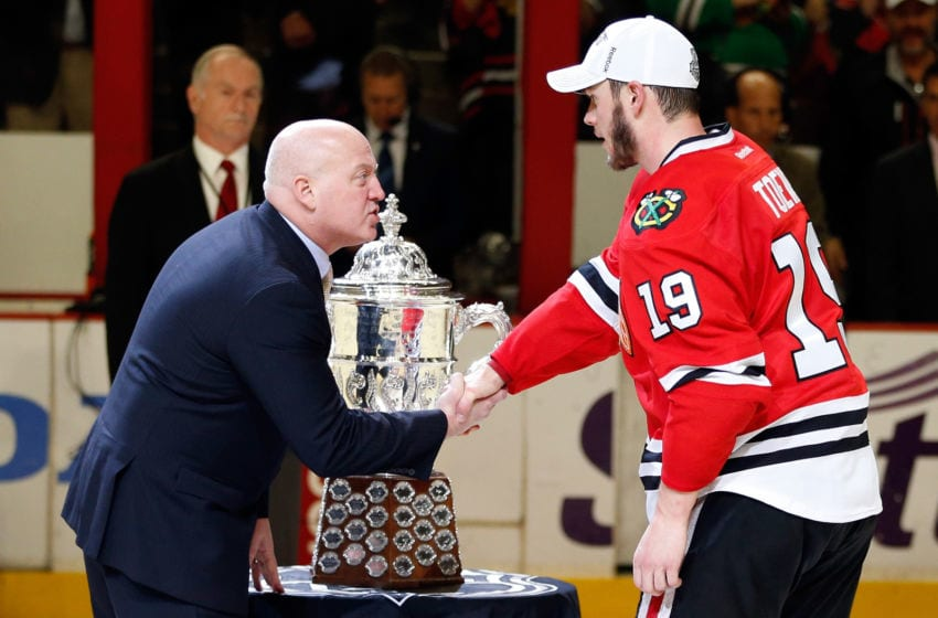 Bill Daley, Jonathan Toews, Chicago Blackhawks (Photo by Gregory Shamus/Getty Images)