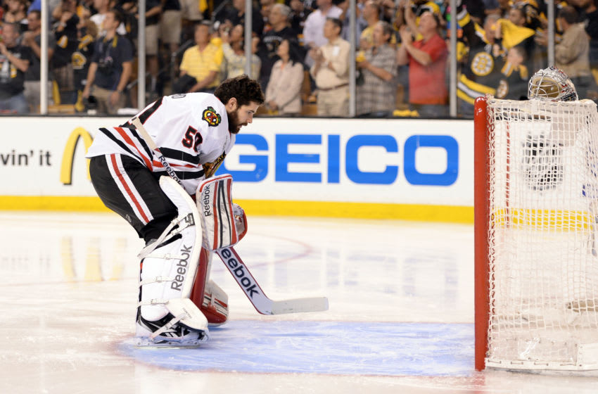 Corey Crawford #50, Chicago Blackhawks (Photo by Harry How/Getty Images)