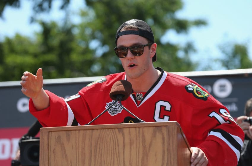 Jonathan Toews #19, Chicago Blackhawks (Photo by Jonathan Daniel/Getty Images)
