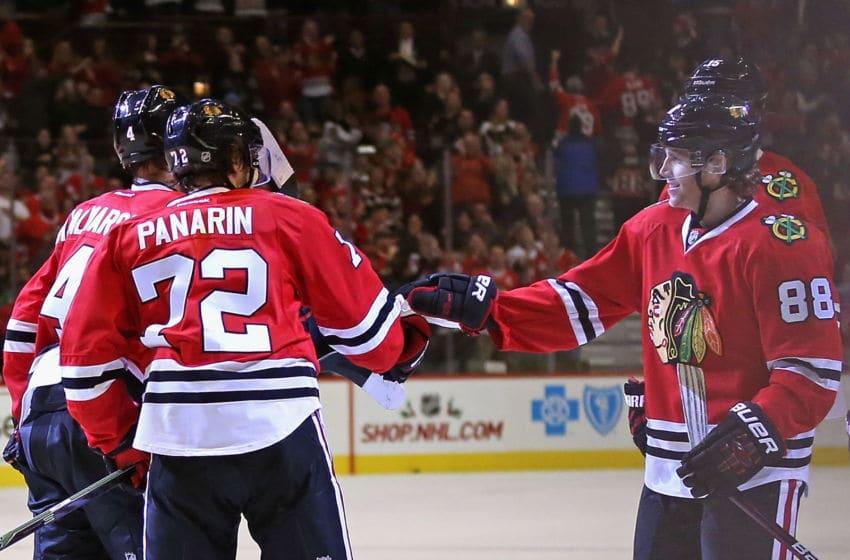 Patrick Kane, Artemi Panarin, Chicago Blackhawks (Photo by Jonathan Daniel/Getty Images)