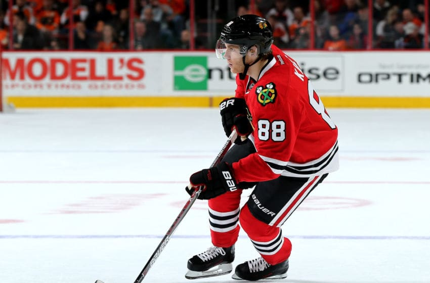 Patrick Kane #88, Chicago Blackhawks (Photo by Elsa/Getty Images)