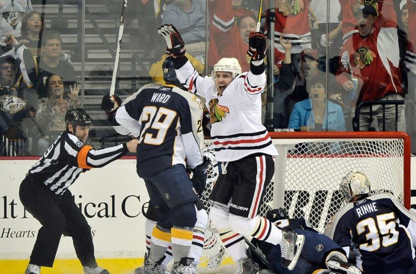 Patrick Sharp, Chicago Blackhawks (Photo by Grant Halverson/Getty Images)