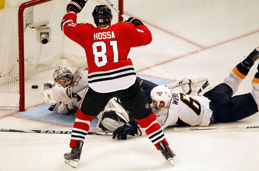 Marian Hossa, Chicago Blackhawks. (Photo by Jonathan Daniel/Getty Images)
