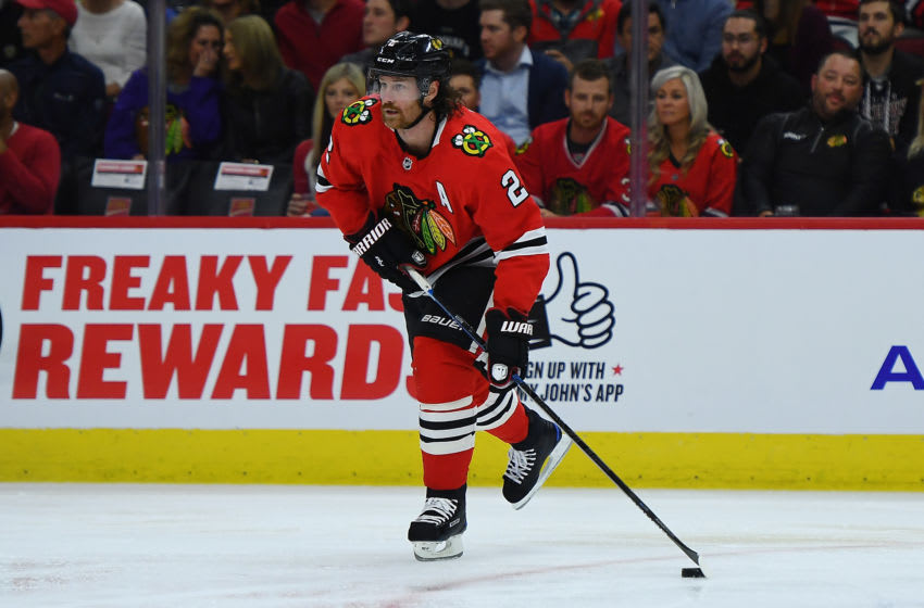 Duncan Keith #2, Chicago Blackhawks (Photo by Stacy Revere/Getty Images)