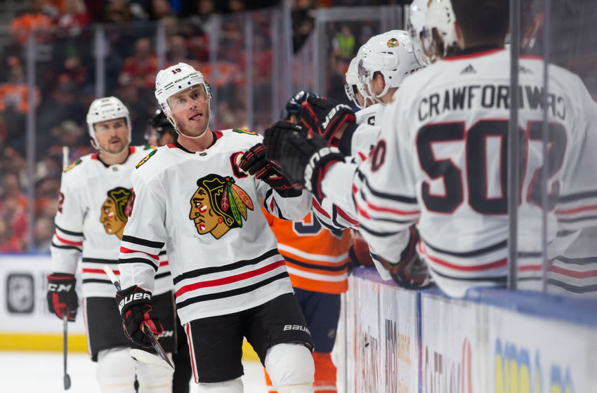Jonathan Toews #19, Chicago Blackhawks (Photo by Codie McLachlan/Getty Images)