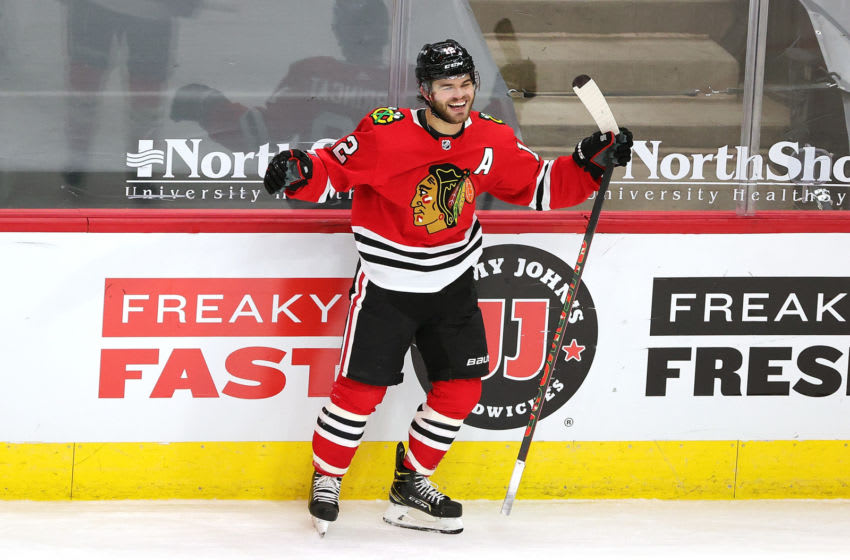Alex DeBrincat #12, Chicago Blackhawks (Photo by Stacy Revere/Getty Images)